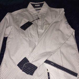 Paper, Denim & Cotton Dress shirt NWT